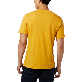 Columbia Bluff Mesa Graphic Tee Men bright gold csc wireframe